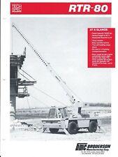 Equipment Brochure - Broderson - RTR-80 - Crane - 1989 (E3897)
