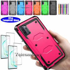 For Samsung Galaxy Note10 Plus S10 S9 S8 Phone Case Cover+Glass Screen Protector