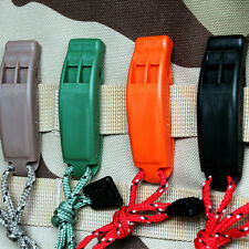Outdoor Survival Molle system SOS Whistle with rope Lifesaving Emergency Tool