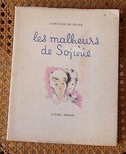 comtesse de SEGUR - les malheurs de Sophie - ed. Cuzin 1945, ill. A. Jo Veilhan