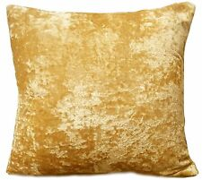 "Set of 4 cushions Covers With cushions Crushed Velvet 17""X 17"" Gold"