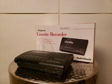 Radio Shack teléfono activado por voz grabadora de cinta de cassette TCR-200! Excelente!