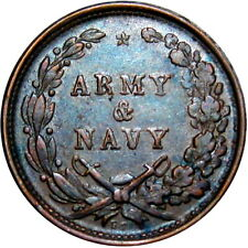 1863 Army & Navy Patriotic Civil War Token