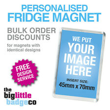 *DISCOUNT PRICES* MULTIPLE PERSONALISED ACRYLIC FRIDGE MAGNETS 70mm x 45mm