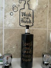 Mrs Hinch Inspired  Black Personalised Pump Bottles 500ml Bathroom Storage