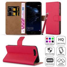 Fundas con tapa Para Huawei P9 color principal rojo para teléfonos móviles y PDAs