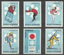 Timbres Sports d'hiver JO Roumanie 2652/7 o lot 28941