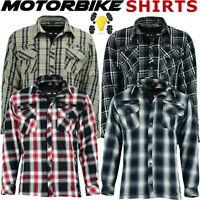Motorbike Motorcycle Shirt Jacket Lumberjack Protection With CE Biker Armour UK