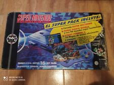 Consola Super Nintendo SNES con caja + Cartucho 130 en 1 Mario,Zelda,etc...