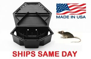 HEAVYDUTY RAT MOUSE RODENT BAIT STATION Lockable Tamper & Weather Proof Traps