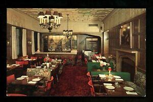 Illinois IL postcard Chicago, Pearson Hotel English Room interior chrome