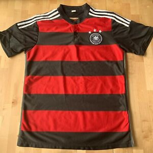 Boys XL Mens M 2014 German World Cup Away Kit Jersey Black Red Stripes