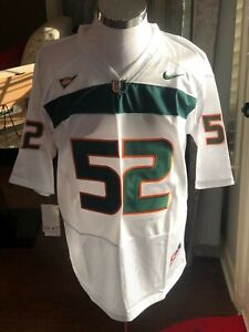 Miami Hurricanes #52 Ray Lewis White Throwback College Jersey