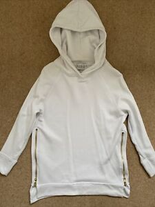 Varley side zip Hoodie/ Sweater, White Xs (size 8) See Description
