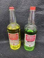 Two Odell Barber Shop Tonic Bottles Vintage Shaving Beauty