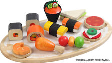 BRAND NEW wooden VOILA toy TIDBITS SUSHI FINGER FOOD pretend play food kitchen