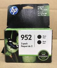 HP 952 Black Ink Cartridges, 2 Pack 3YP21AN 140 Exp Nov 2020