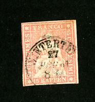 Switzerland Stamps # 38 XF Used Scott Value $65.00