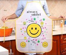 Women's Waterproof Apron Kitchen Cooking Dress Oleophobic Smiling Face Cute #10