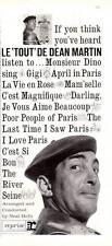1962 Reprise Records Print Ad features Dean Martin Le 'Tout' De Monsieur Dino