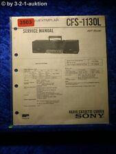 Sony Service Manual CFS 1130L Cassette Corder (#3503)