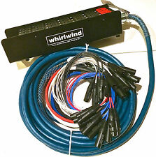 """Whirlwind Medusa Audio Snake: 24 inputs, 4 1/4"""" TRS returns, 200ft"""