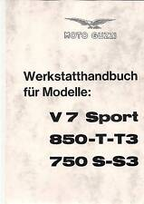 Istruzioni di riparazione/Officina Manuale Moto Guzzi 850 t3, v7, Sport 750 s3 NUOVO