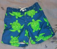 Gymboree Toddler Boys Blue/Green Turtle Swim Shorts (12-18 months) Discontinued