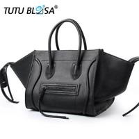 New Famous Designer Brand Luxury Women Leather Handbags Fashion Smile Face Tote