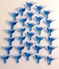 New listing Blue Smooth Dove Bulbs Lights Ceramic Christmas 45 Birds Vintage