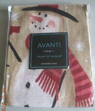 Avanti-The art of the Bath Tall Snowmen Shower Curtain-NEW