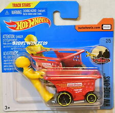 HOT WHEELS 2017 HW RIDE-ONS AISLE DRIVER #2/5 RED SHORT CARD
