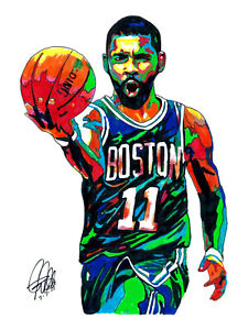 Kyrie Irving Boston Celtics Point Guard Basketball Sports Poster Print 8.5x11