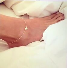 Women Heart Foot Accessories Gold Plated Chain Anklet adjustable charm