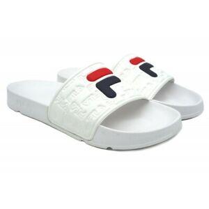 FILA BOARDWALK SLIPPER 2.0 WHITE 1010958-1FG - Sandale Tongs - Flip Flop Homme