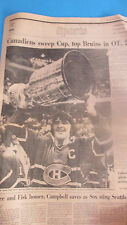 MONTREAL CANADIENS-SWEEP CUP TOP BRUINS MAY 15,1977 GLOBE SPORTS -STANLEYCUP1977