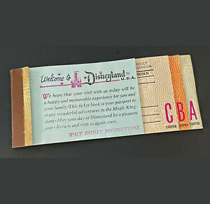 Disneyland Vintage Ticket Book May 1970 Partial 3 tickets remaining A, B, C
