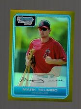 1/1-2006 Bowman Chrome #BC14 Mark Trumbo Gold Refractor Rookie Card 44/50 Jers#