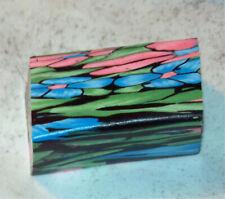 "polymer clay cane, raw, SCRAP CANE  1""x 1""x 1 34""  1.75 oz   s03166"