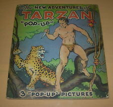 THE NEW ADVENTURES OF TARZAN  POP-UP  BOOK  1935  EDGAR RICE BURROUGHS
