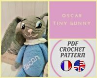 Doudou lapin Pâques OSCAR. Patron amigurumi, poupée CROCHET Knitting Pattern PDF
