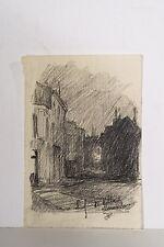Jules PONCEAU 1881-1961 Petit Dessin v 1905 rue Chef de Ville Clamart la Nuit