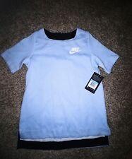 Nike Sportswear Tech Fleece Girl'S Ss Top 830721 450 cloud blue $75 Medium