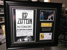 Led Zeppelin 1980 Unused Authentic Concert Last Ticket signed cachet with COA