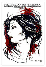 "Cuban movie Poster for""Retrato de TERESA""Portrait.Art.Home room wall decoration"