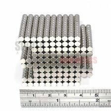 1000 Magnets 4x3 mm N52 Neodymium Disc small round neo magnet 4mm dia x 3mm