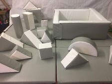 Wedding Grey / White   15 Piece Soft Play Set - Ball Pond -9 Mats FREE POST