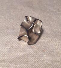 MJH Matti J Hyvarinen Finland Sterling Silver Mid Century Modern Brutalist Ring