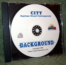 "56007 MODEL RAILROAD SOUND EFFECTS AUDIO CD ""CITY DAY MODERN DIESEL"""