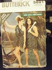 Butterick 5801 Adult Caveman or Cavegirl Costume Pattern - Size XS/S/M